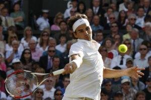 Federer en acción.