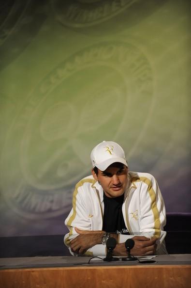 Federer en rueda de prensa