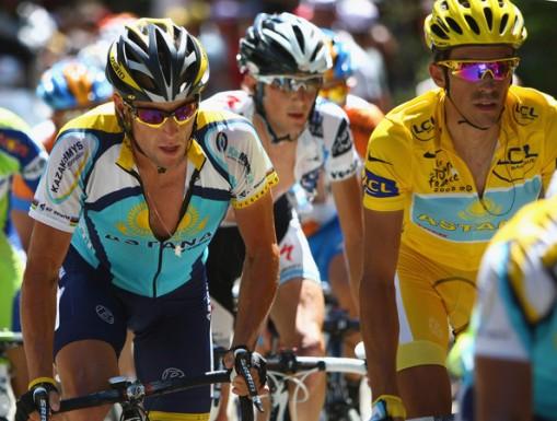 La polémica relación entre Armstrong y Contador