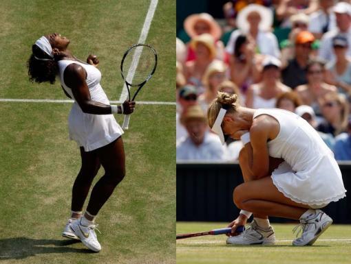 Serena y su jubilo-Dementieva lamentandose