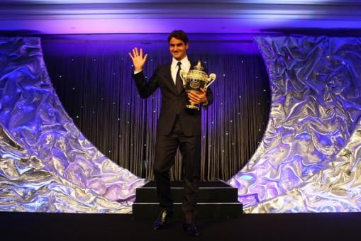La presentacion del Campeon de Wimbledon 2009