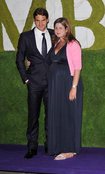 Mirka Federer y Roger Federer