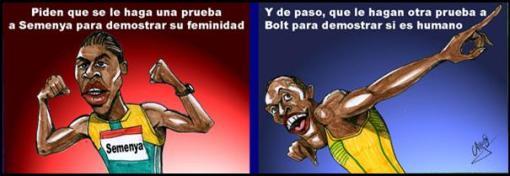 Semenya y Bolt