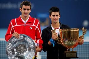 Los finalistas y sus trofeos en Beijing