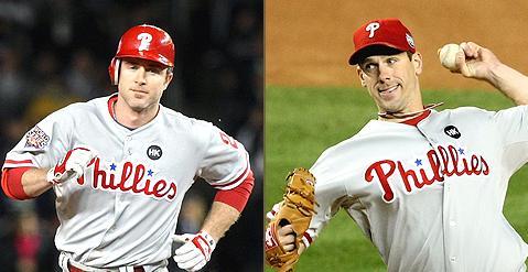 Utley y Lee con grandes actuaciones llevaron a los Phillies a la victoria